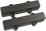 Bartolini 57J1 L/S 5-String American Standard J-Bass Split Coil Neck/Bridge Pickup Set, Black