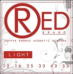 ClearTone 7312 RED Copper Bronze Acoustic Guitar Strings, Light .012-.053