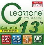 ClearTone 7613 Micro-Treated 80/20 Bronze Guitar Strings Medium .013-.056