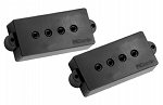 DiMarzio DP122 Model P Precision Bass P-Bass Ceramic Two Pickup Set, Black