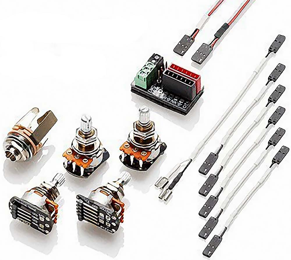 emg 3880 hz solderless wiring kit for passive humbuckers 2 volume 2 tone. Black Bedroom Furniture Sets. Home Design Ideas