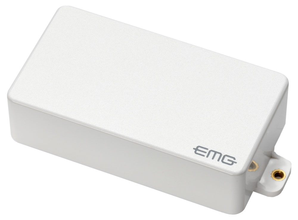 emg 60 active dual coil humbucking electric guitar pickup white cover. Black Bedroom Furniture Sets. Home Design Ideas