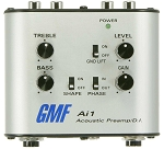 GMF Ai1 Analog Acoustic Guitar/Instrument Preamp/DI/Practice Amp, Headphone Jack