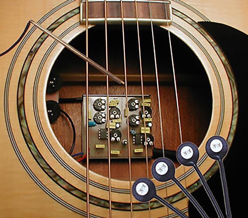 k k sound powermix pure classic dual guitar pickup system w preamp. Black Bedroom Furniture Sets. Home Design Ideas