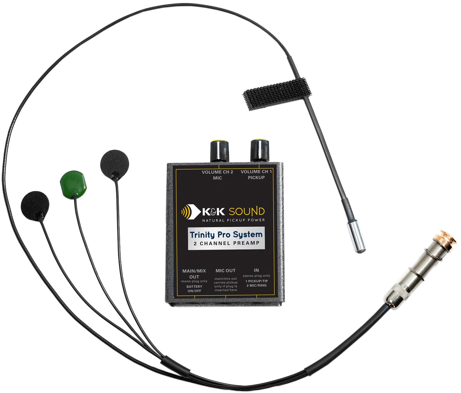 k u0026k sound trinity mini pro 3 sensor guitar pickup w