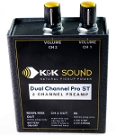K&K Sound Dual Channel Pro ST Stereo Guitar Preamp/EQ
