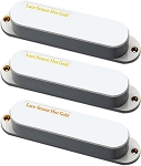 Lace 21153 Hot Gold Guitar Pickup Set w/Hotter 13.2k Bridge, White