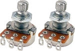 TWO Mighty Mite MM708 Control Potentiometer 500K Linear (Tone) Short Shaft Mini-Pots