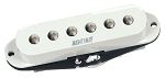 Mighty Mite PSS-F Vintage Single Coil Strat Guitar Neck Pickup, White