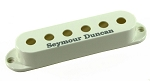 Seymour Duncan Pickup Cover for Strat Single Coil Pickups, Parchment with Logo