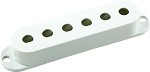 Seymour Duncan Pickup Cover for Strat Single Coil Pickups, White, No Logo