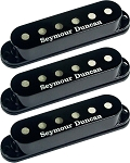 Seymour Duncan SSL-3 CSET Hot Single Coil Strat 3 Pickup Calibrated Set, Black