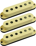 Seymour Duncan SSL-6 Custom Flat Strat 3 Pickup Calibrated SET, Cream, No Logo