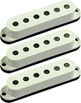 Seymour Duncan SSL-3 CSET Hot Single Coil Strat 3 Pickup Calibrated Set, Parchment, No Logo