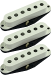 Seymour Duncan SSL-1 Vintage Staggered 3 Pickup Calibrated Set for Strat, Parchment No Logo Covers