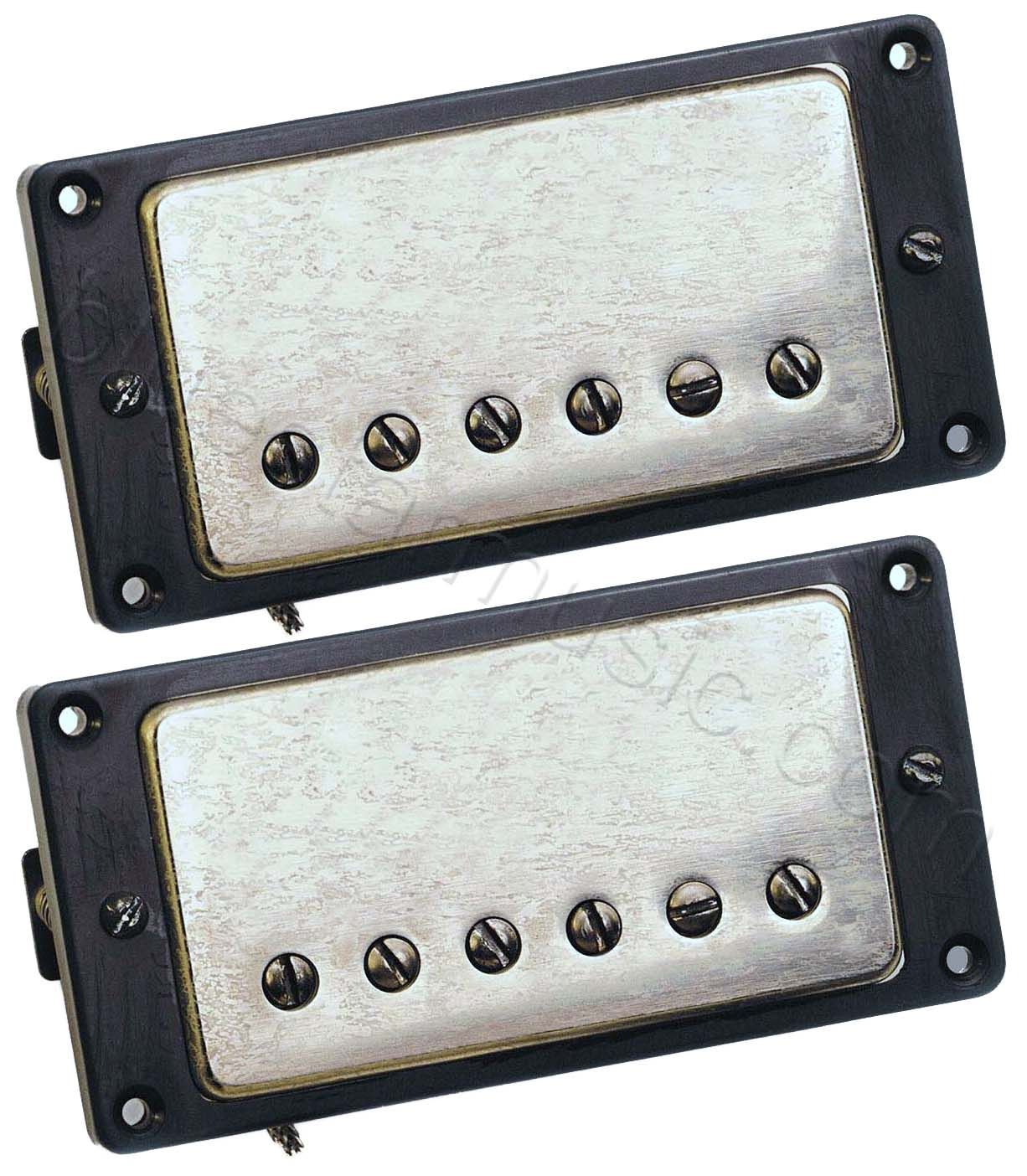 seymour duncan antiquity humbucker bridge neck pickup set aged nickel covers. Black Bedroom Furniture Sets. Home Design Ideas