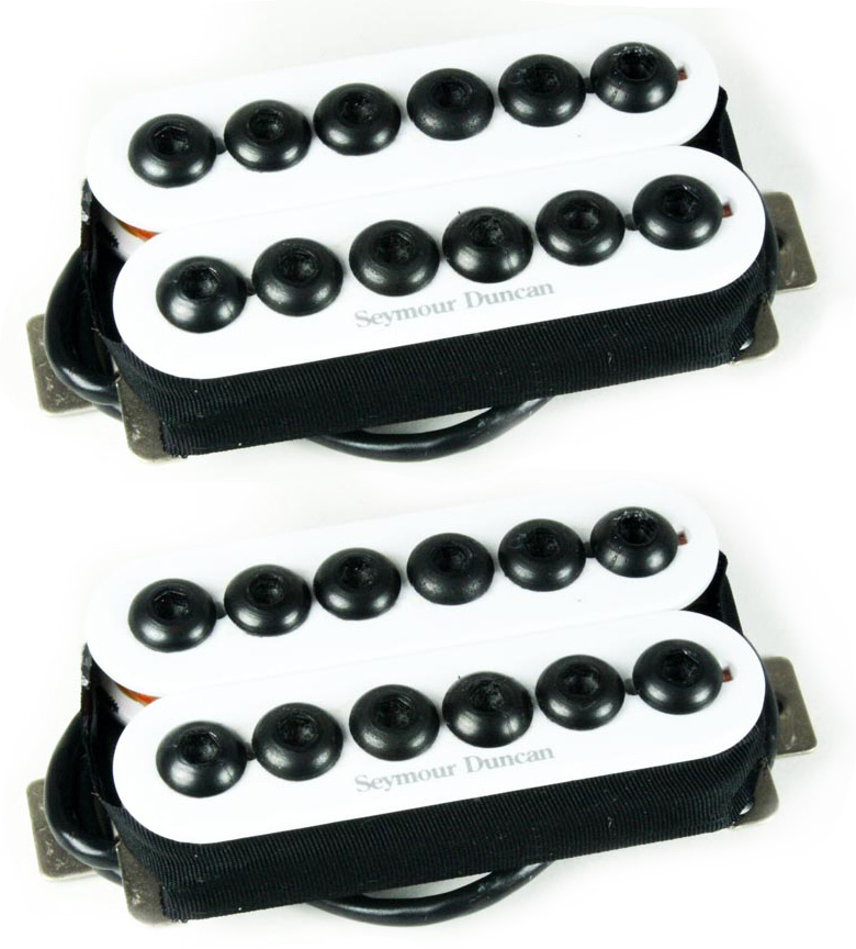 Seymour Duncan SH-8 Invader Humbucker Neck/Bridge Pickup Set, White