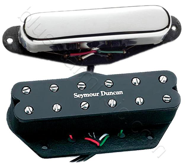 seymour duncan st59 1s little 39 59 vintage telecaster neck bridge pickup set. Black Bedroom Furniture Sets. Home Design Ideas