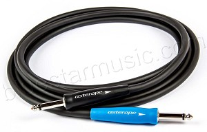 Asterope AST-B10-SSN Pro Stage Guitar Cable, Black 10 Foot Straight to Straight
