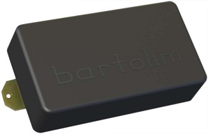 Bartolini PBF-57 Jazz Humbucker Guitar Bridge Pickup, Black Cover, 4 Conductor