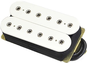 DiMarzio DP100F Super Distortion Ceramic Humbucker F-Spaced Bridge Pickup, White