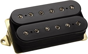 DiMarzio DP104F Super 2 Hot Distortion Ceramic Humbucker Pickup, F-Spaced, Black