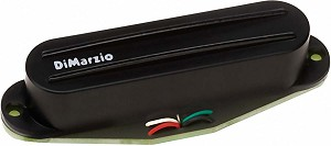 DiMarzio DP182 Fast Track 2 Hum Cancelling Rails Strat Bridge Pickup, Black