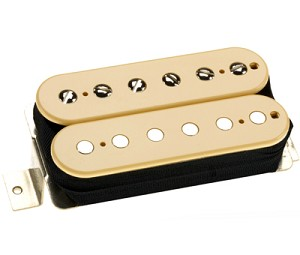 DiMarzio DP223F PAF Vintage 1950's F-Spaced Humbucker Alnico 5 Bridge Pickup, Cream