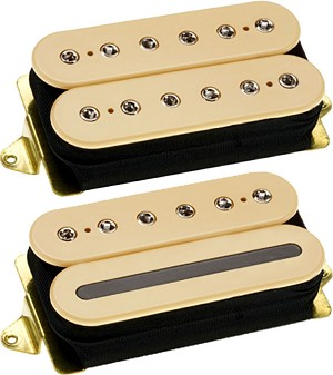 DiMarzio DP227  Liquifire + DP228F Crunch Lab John Petrucci Humbucker Neck/Bridge Pickup Set, Cream