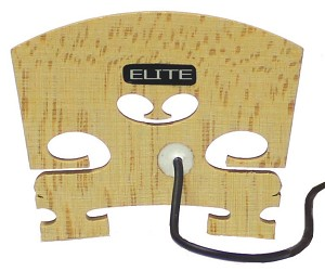 Elite V-100 Violin Bridge Pickup with Embedded Piezo Sensor, No Jack