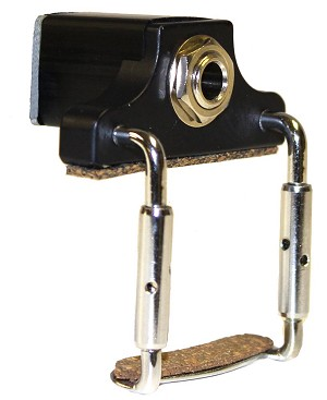 "Elite Side-Mounted Clamp-On 1/4"" Viola Carpenter Jack, No Pickup"