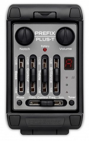 Fishman Prefix Plus-T Onboard Preamp/EQ/Pickup .094""