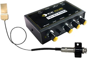 K&K Sound Definity PRO Pickup w/Pure XLR Preamp for Floating Bridge Guitars