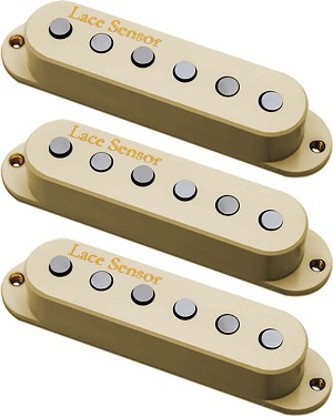 Lace Sensor 21803 Holy Grail Strat Guitar Pickup Set, Neck/Middle/Bridge, Cream