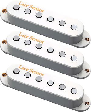 Lace Sensor 21803 Holy Grail Strat Guitar Pickup Set, Neck/Middle/Bridge, White