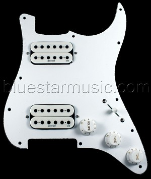 mite mm404w loaded dual humbucker motherbucker hh strat pickguard mighty mite mm404w loaded dual humbucker motherbucker hh strat pickguard white