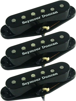 Seymour Duncan APS-1s Alnico II Pro Staggered 3 Pickup Set for Strat, Black Covers