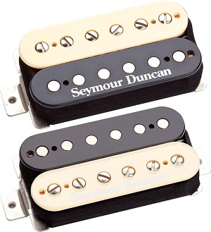Seymour Duncan SHPG-1s Pearly Gates Bridge & Neck Pickup Set, Zebra