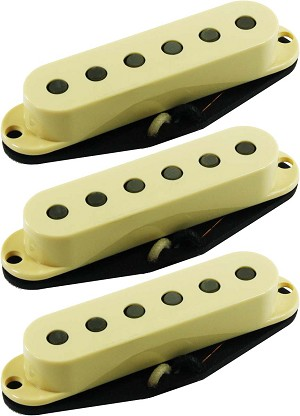 Seymour Duncan SSL-2 CSET Vintage Flat Strat Calibrated 3 Pickup Set, Cream Covers
