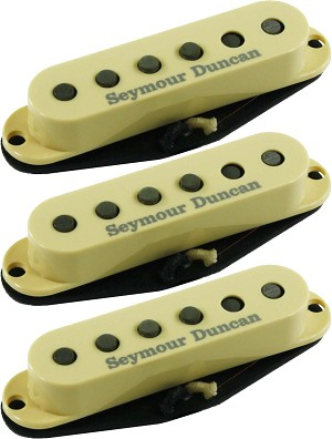 Seymour Duncan SSL-1 Vintage Staggered 3 Pickup Calibrated Set for Strat, Cream Covers