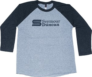 Seymour Duncan S-Logo Baseball Shirt, Small, Charcoal