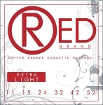 ClearTone 7311 RED Copper Bronze Acoustic Guitar Strings Extra Light .011-.052