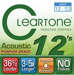 ClearTone 7412 Micro-Treated Phosphor Bronze Light Guitar Strings .012-.053, NOS