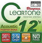 ClearTone 7423 Micro-Treated Phosphor Bronze Bluegrass Guitar Strings .012-.056, NOS