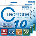THREE SETS: ClearTone 9420 Nickel Plated Electric Guitar Strings Light Top/Heavy Bottom .010-.052
