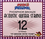 Dr. Duck's Light Phosphor Bronze 12-String Guitar Strings, Light, .010-.047