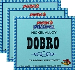 THREE SETS: Dr. Duck's Dobro / Resonator Strings, Nickel Alloy, Made in USA