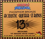 Dr. Duck's Medium Phosphor Bronze Guitar Strings .013-.056