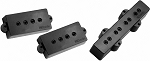 DiMarzio DP126 Model P + J Hum-Cancelling PJ-Bass Ceramic Pickup Set, Black