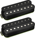 DiMarzio DP813 + DP814 Eclipse 8-String Humbucker Ceramic Neck/Bridge Pickup Set, Black